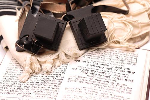Tefilin, Talit and Sidur - Jewish prayer objects